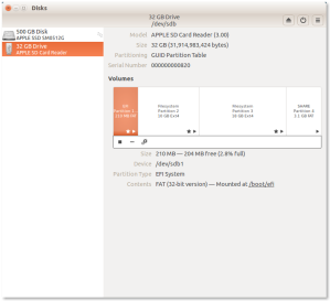 Final partition setup in Ubuntu