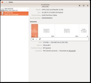 Final partition setup in Ubuntu